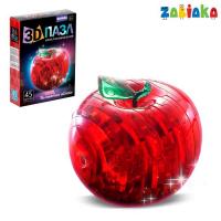 Пазл 3D кристаллический «Яблоко», 45 деталей, световой эффект, цвета , работает от бат