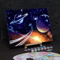 Лунная роспись по номерам без подрамника «Космос»