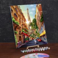 Картина по номерам «Прогулка по Парижу»