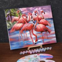 Картина по номерам «Фламинго»