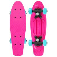 Пенниборд 42 х 12 см, колеса PVC 50 мм, рама пластик, цв. розовый