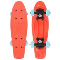 Пенниборд 42 х 12 см, колеса PVC 50 мм, рама пластик, цв. оранжевый