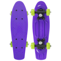 Пенниборд 42 х 12 см, колеса PVC 50 мм, рама пластик, цв. фиолетовый