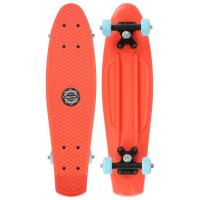 Пенниборд 56 х 15 см, колеса PVC 50 мм, рама пластик, цв. оранжевый