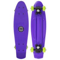 Пенниборд 56 х 15 см, колеса PVC 50 мм, рама пластик, цв. фиолетовый