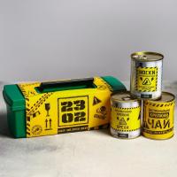 Набор в ящике для инструментов «23 02»: арахис 200 г, чай 60 г, носки 43 р