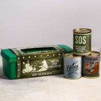Набор в ящике для инструментов «Беречь от женщин»: арахис 200 г, чай 60 г, носки 43 р