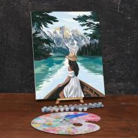 Картина по номерам «Девушка в лодке»