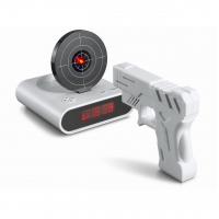 """Часы-будильник Пистолет с лазерной мишенью """"Меткий стрелок"""""""