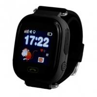 Детские часы Smart baby watch Q90 с GPS (цв. черный)