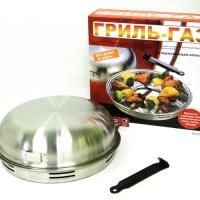 Сковорода гриль-газ D-504 нерж. сталь