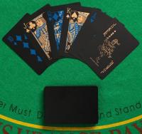 Карты игральные покерные, черные