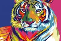 "Картина ""Радужный тигр"""
