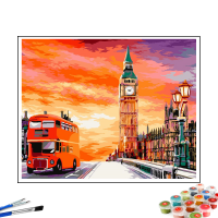Картина по номерам «Лондонский закат»