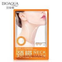Маска-лифтинг для шеи с гиалуроновой кислотой и протеинами шелка Bioaqua Neck Mask