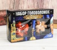Набор деревянных головоломок, 2 шт