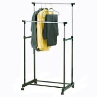 Напольная вешалка для одежды (2 штанги)