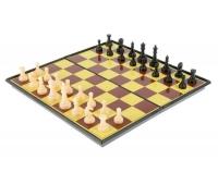 "Настольная игра набор 2в1 ""Баталия"": шашки, шахматы,  доска пластик 20х20см"