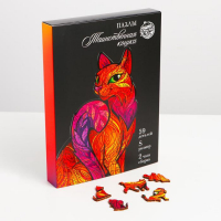 Пазлы фигурные «Таинственная кошка»