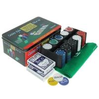 Покер, набор для игры (карты 2 колоды, фишки 200 шт б/номин, сукно)