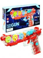 Прозрачный Пистолет с шестеренками