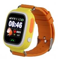 Детские часы Smart baby watch Q90 с GPS (цв. желтый)
