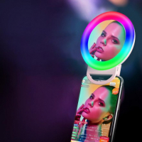 Сэлфи-кольцо RGB с зеркалом