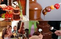 Шоколадный фонтан Chocolate Fondue Fountain высота 40 см.