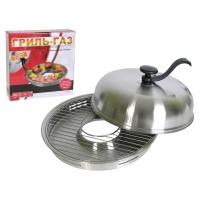 Сковорода гриль-газ D-511 нерж. сталь (съёмная ручка)