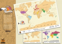 Карта мира со скретч-слоем, 70х50 см